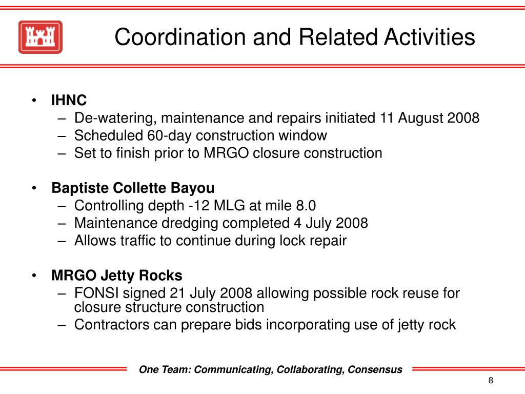 Coordination and Related Activities