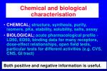 chemical and biological characterisation