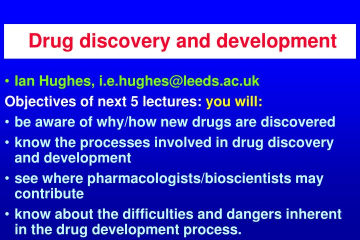 drug discovery and development n.