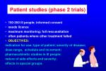 patient studies phase 2 trials