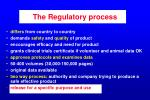 the regulatory process