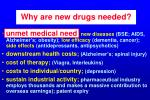 why are new drugs needed