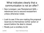 what indicates clearly that a communication is not an offer
