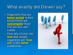what exactly did darwin say31