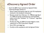 ediscovery agreed order
