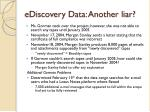 ediscovery data another liar