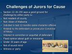 challenges of jurors for cause