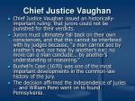 chief justice vaughan
