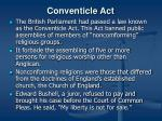 conventicle act