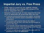 impartial jury vs free press