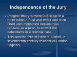 independence of the jury