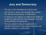 jury and democracy