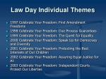 law day individual themes