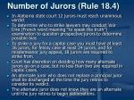 number of jurors rule 18 4