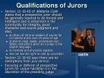 qualifications of jurors