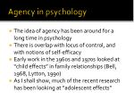 agency in psychology