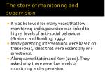 the story of monitoring and supervision