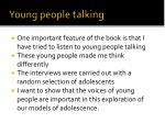 young people talking