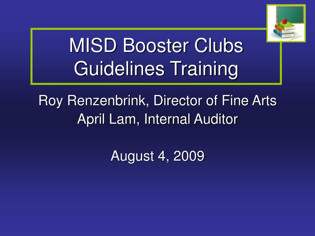 misd booster clubs guidelines training l.