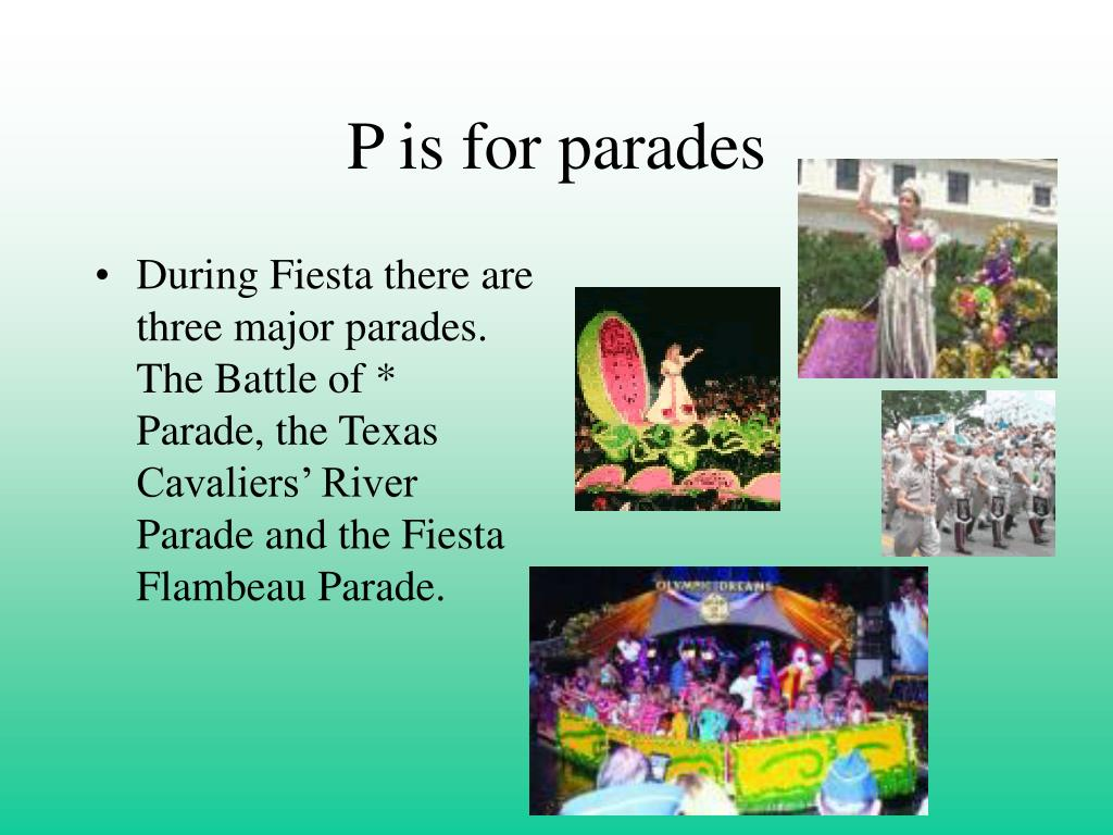 P is for parades