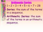 arithmetic series39