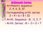 arithmetic series40