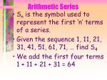arithmetic series41