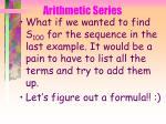 arithmetic series43