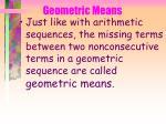 geometric means
