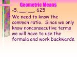 geometric means70