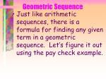 geometric sequence61