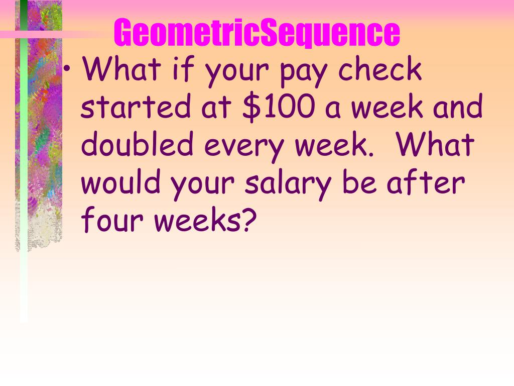 GeometricSequence