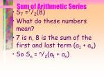 sum of arithmetic series46