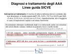 diagnosi e trattamento degli aaa linee guida sicve