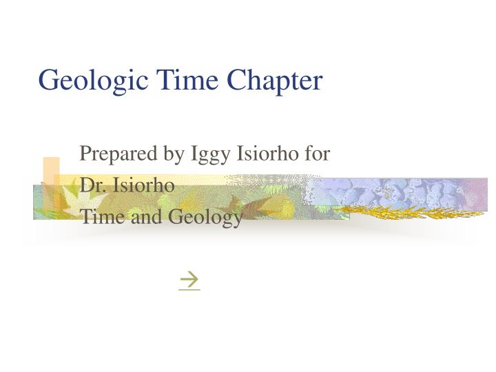 geologic time chapter n.