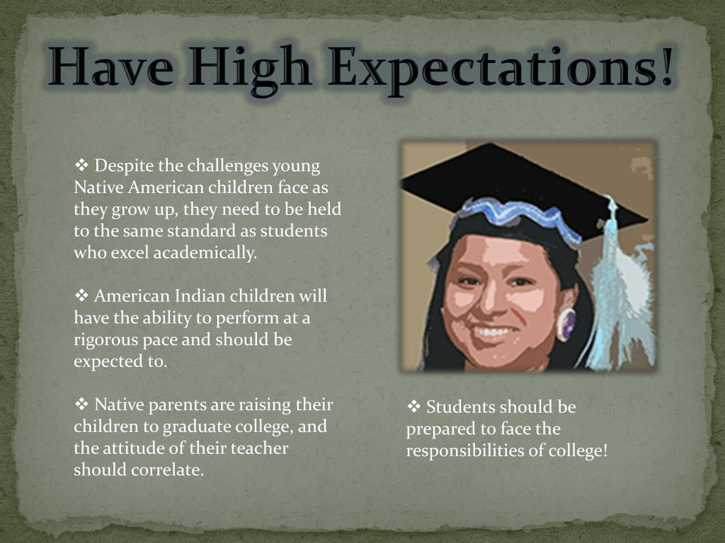 Have High Expectations!