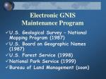 electronic gnis maintenance program