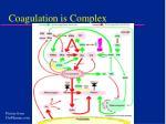 coagulation is complex