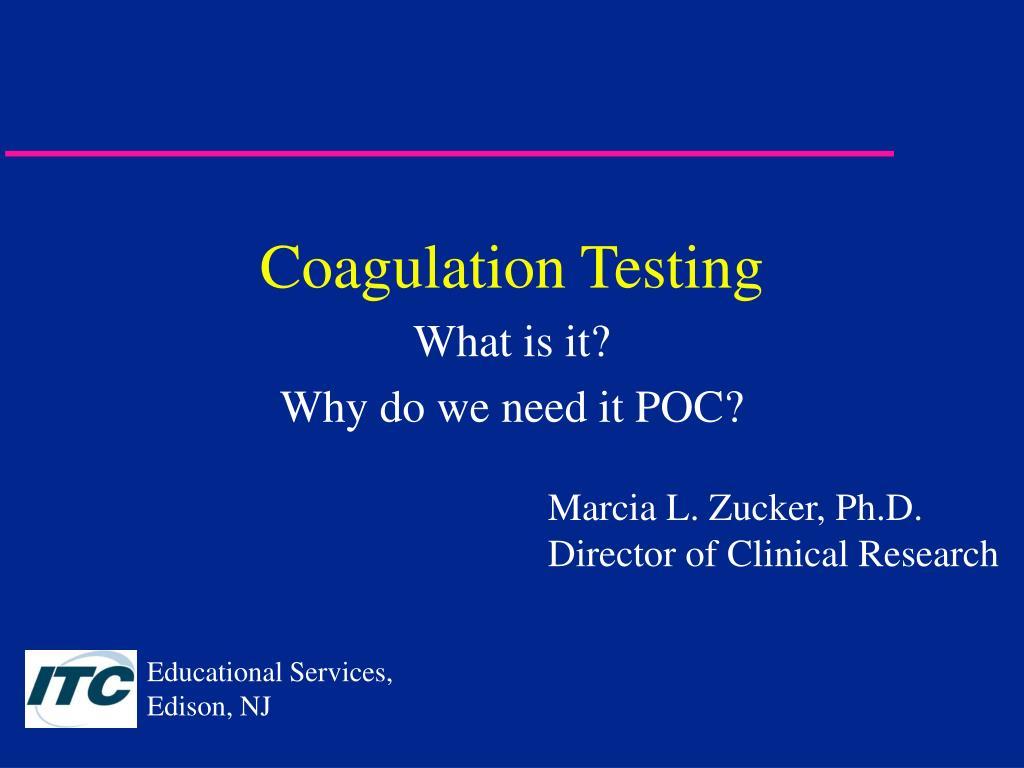coagulation testing l.