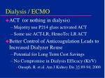 dialysis ecmo