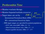 prothrombin time41