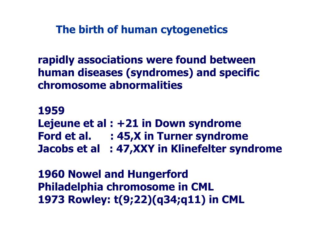 The birth of human cytogenetics