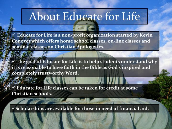 About Educate for Life