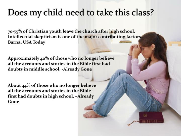 Does my child need to take this class?