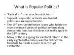 what is popular politics