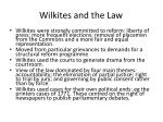 wilkites and the law