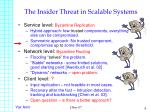 the insider threat in scalable systems