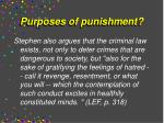 purposes of punishment