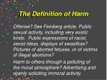 the definition of harm