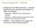 classical approach aristotle